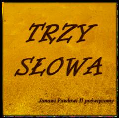 Okładka płyty Trzy Słowa